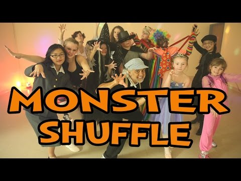 Monster Shuffle ♫ Halloween Dance Song for Children ♫  Popular Halloween Kids Dance Songs