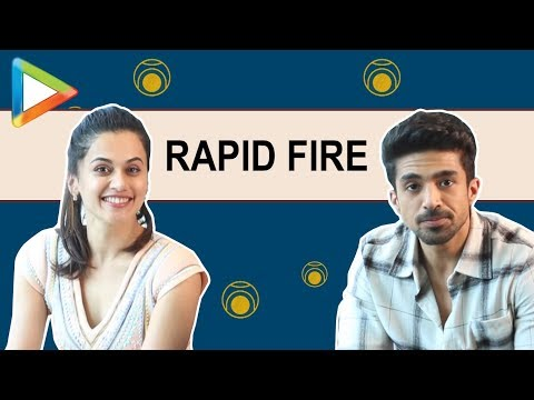 Saqib Saleem Falls On Floor After Hearing Taapsee Pannu's HILARIOUS Rapid Fire Answers!!!