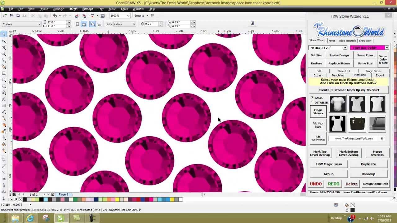 Trw Stone Wizard Rhinestone Software For Corel Draw Ver 11 Upgrades