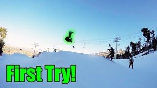 SNOWBOARD FLIPS!
