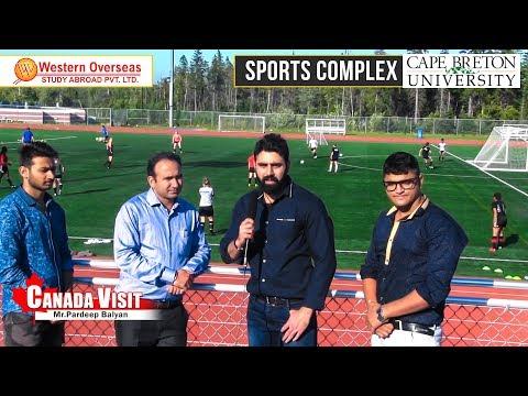 Study in Canada - CBU Sports Complex & Accommodation Area