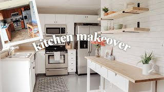 DIY SMALL KITCHEN MAKEOVER! Cabinet Painting, Floor Painting, On A Budget