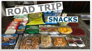 Road trip snacks and essentials