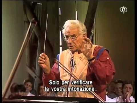 Prove d'Orchestra. Direttore Leonard Bernstein, La Sagra della Primavera - Igor Stravinsky