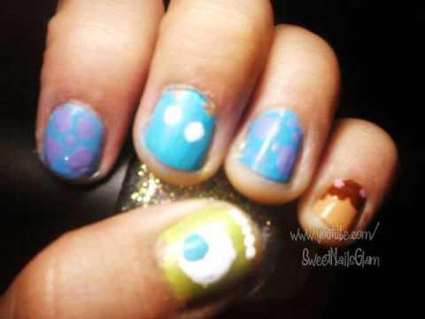 monsters nail art short