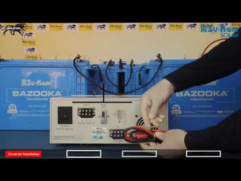 How to install a solar inverter in your home | Su-Kam Brainy Eco