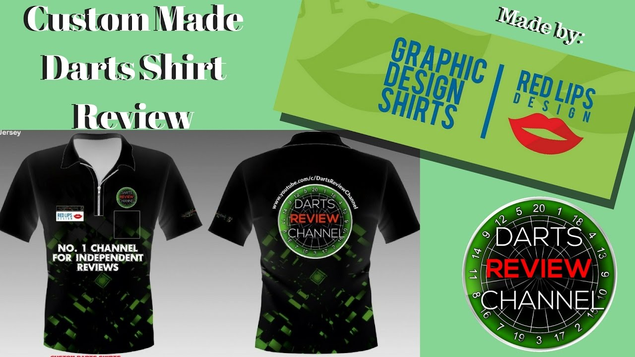 Custom Made Darts Shirt By Red Lips Design Review Youtube