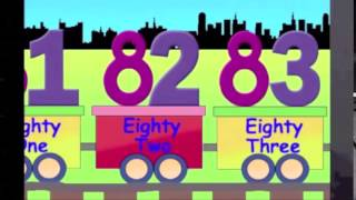 Learning Numbers, Learn Counting, 81 to 90, the number train learning for kids Claremont College
