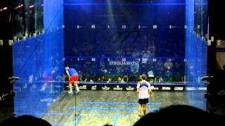 HK Open Squash 2012 final - Ramy Ashour funny moment