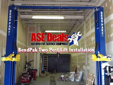 Bendpak 2 Post Lift Installation With Asedeals Com Youtube