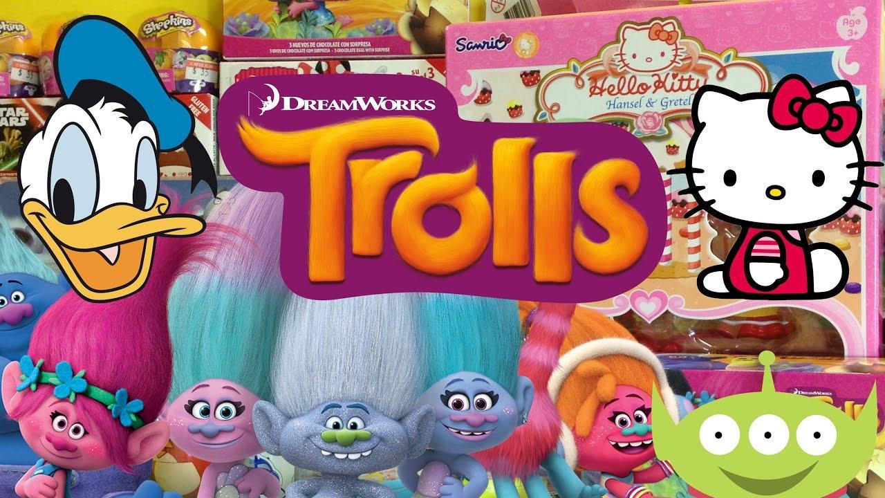 Hello Kitty Hansel  Gretel Unboxing Feat Trolls Surprise Eggs