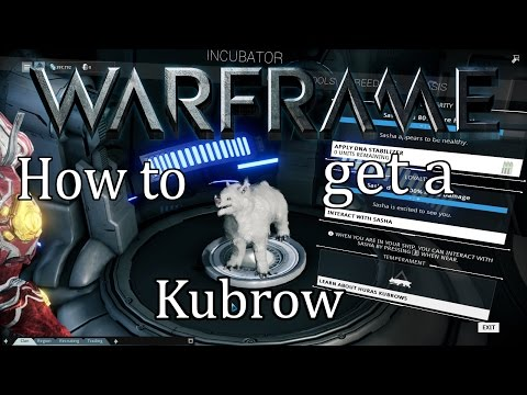 Warframe Tutorial - How to get a Kubrow