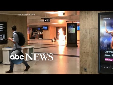 Explosions and gunfire at train station in Brussels