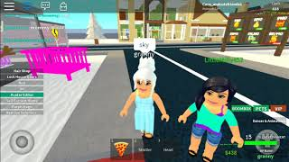 Plying with my brother on roblox