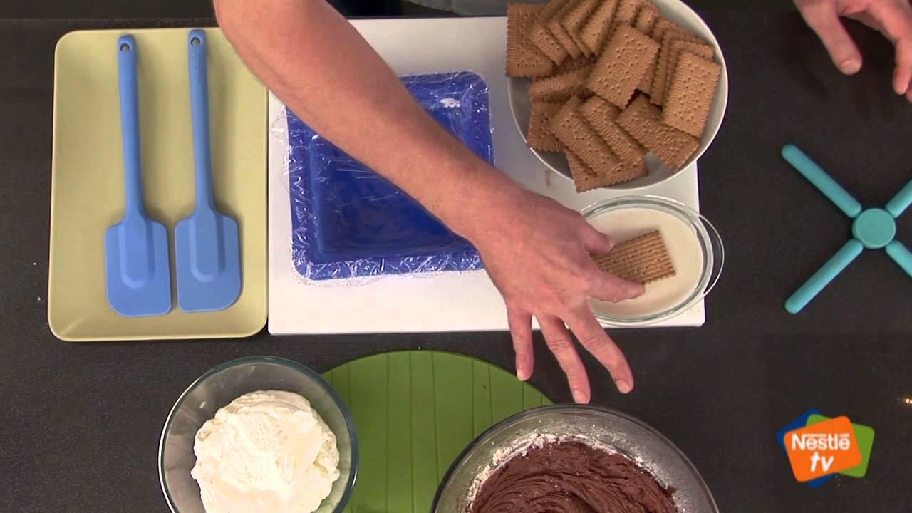 Pastel de galletas con chocolate - Recetas rápidas Nestlé
