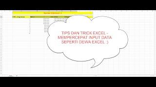 excel 2013 Tips dan Trick  - Input Data seperti Dewa Excel (1)
