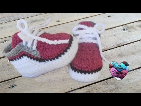 Crocheting Youtube Videos : Baskets bEbE partie 2 / Zapatitos bebe a crochet parte 2 - YouTube
