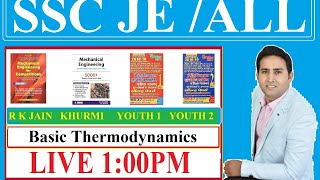 14. SSC JE 2020 ME, Basic Thermodynamics All Books Practice Session