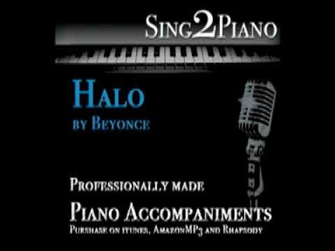 Halo - Beyonce (Piano karaoke backing for cover)