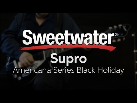 holiday electric guitar wiring diagram supro americana series black holiday electric guitar demo youtube  supro americana series black holiday