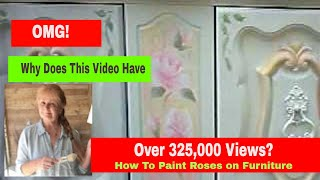 How to Paint Shabby Chic Roses Furniture