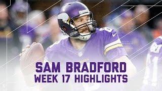 Sam Bradford's 3 TD Game Caps off Record-Setting 2016 Season! | Week 17 Player Highlights