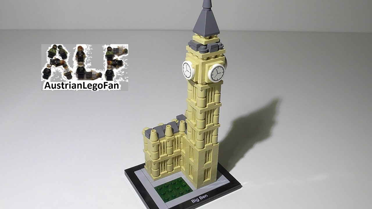 Lego Architecture 21013 Big Ben Lego Speed Build Review Youtube