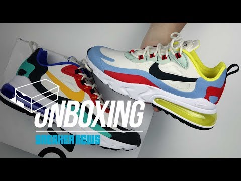 sale retailer 84631 aad53 Air Max 270 React Unboxing + Review - YouTube