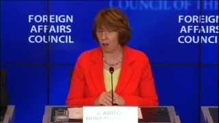 Catherine Ashton Press Conference - Foreign Affairs Council, Luxembourg, 24 June 2013