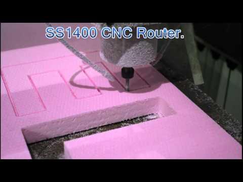 Router cnc,frezare polistiren extrudat.