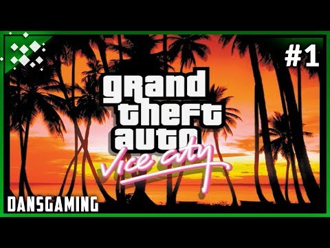 Let's play Grand Theft Auto: Vice City (Part 1) - First Time Playing - DansGaming