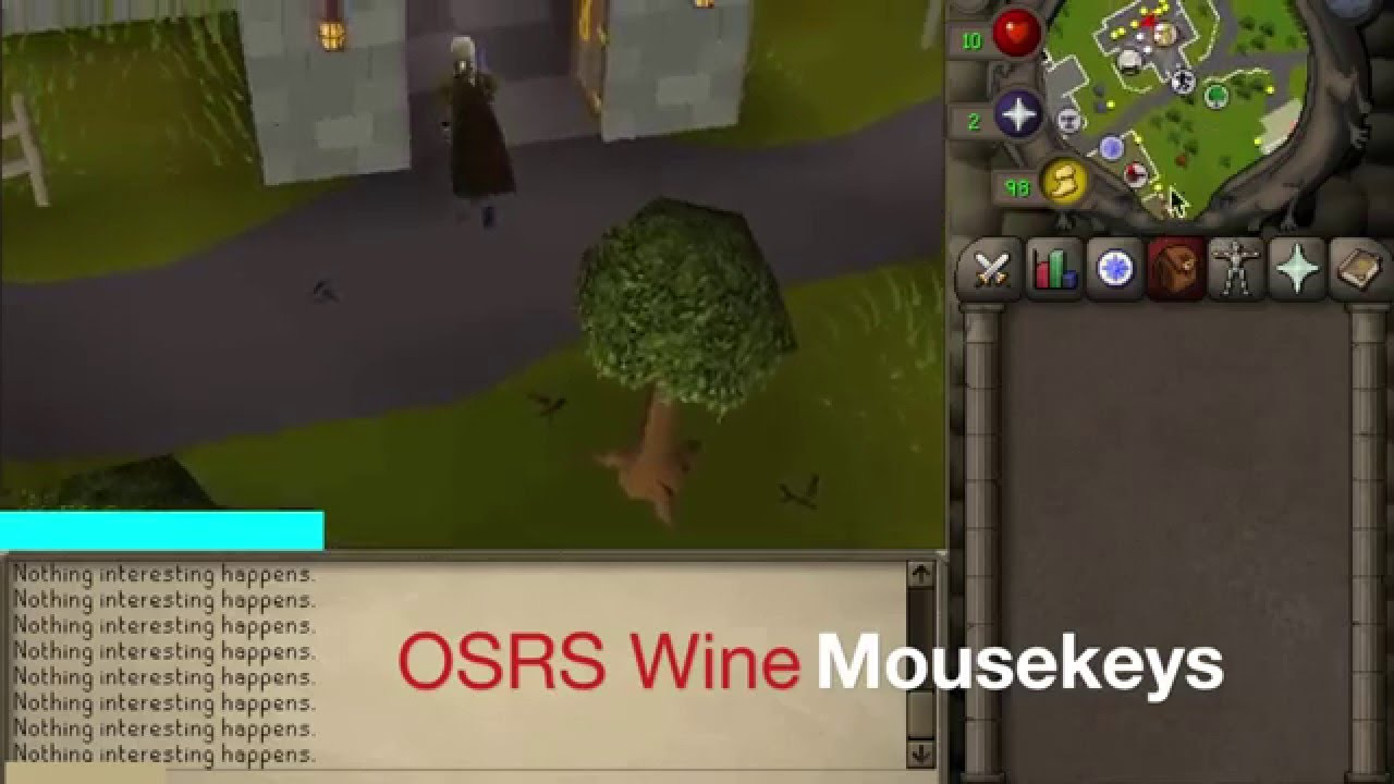OSRS Cooking XP: Wines Using Mousekeys
