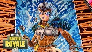 Drawing Fortnite Battle Royale Valkyrie New Legendary Skin / Dibujos de fortnite