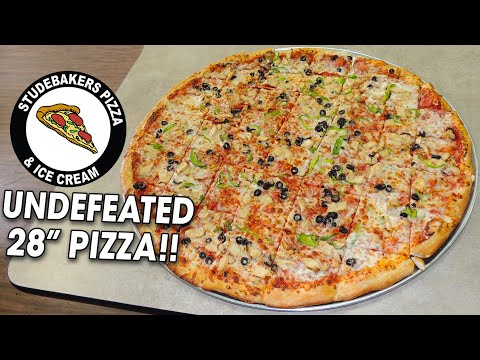 Undefeated 28-inch Pizza Challenge!! (SOLO)