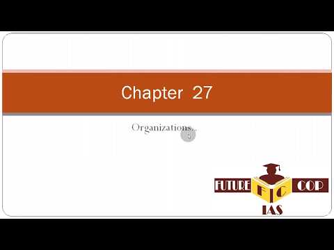 chapter 27 environment organizations