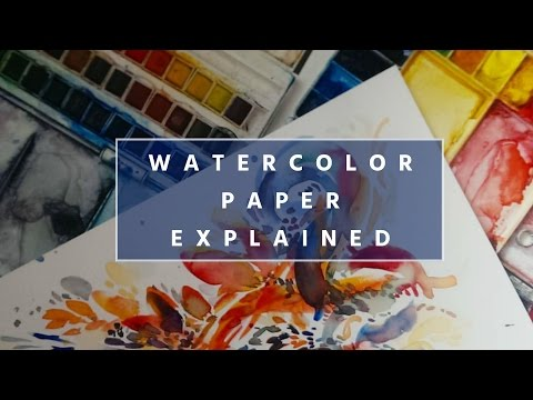 TYPES of Watercolor PAPER Explained // BEGINNER'S Watercolor Introduction
