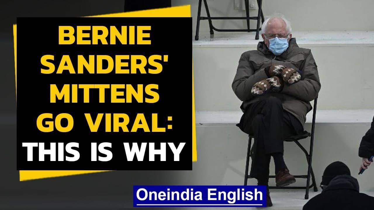 Bernie Sanders Oversized Mittens Go Viral Inspire Memes Oneindia News Youtube