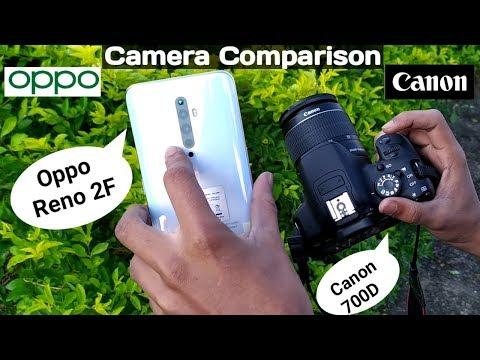 Oppo Reno 2F Vs DSLR Camera (Canon 700D) - Quad Camera Full Comparison Hindi