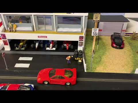 Scalextric Slot car scenery making cheap easy bushes