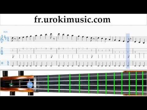 Cours de Violon Shakira - Waka Waka Tuto Partitions Partie#1 um-829