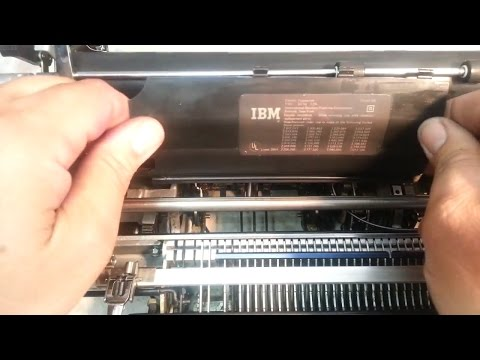 How to remove dust / operational cover / shield IBM Selectric Typewriter