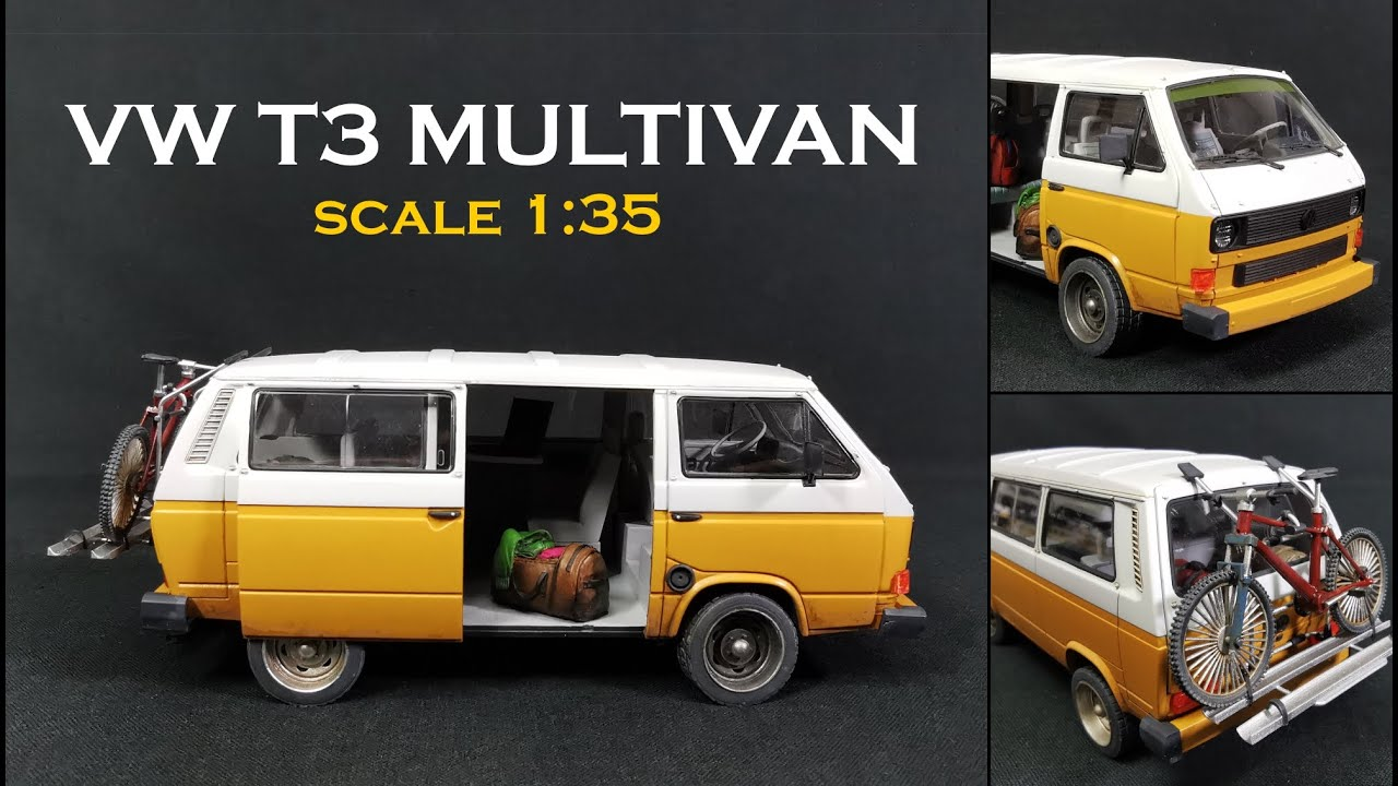 VW T3 Multivan scale 1:35 for my next diorama / Mountainbike with the Elegoo Mars 3D Printer