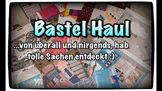 Bastel Haul (deutsch) Tedi Haul, KIK, Woolworth, Schnäppchen, Scrapbook basteln mit Papier, DIY