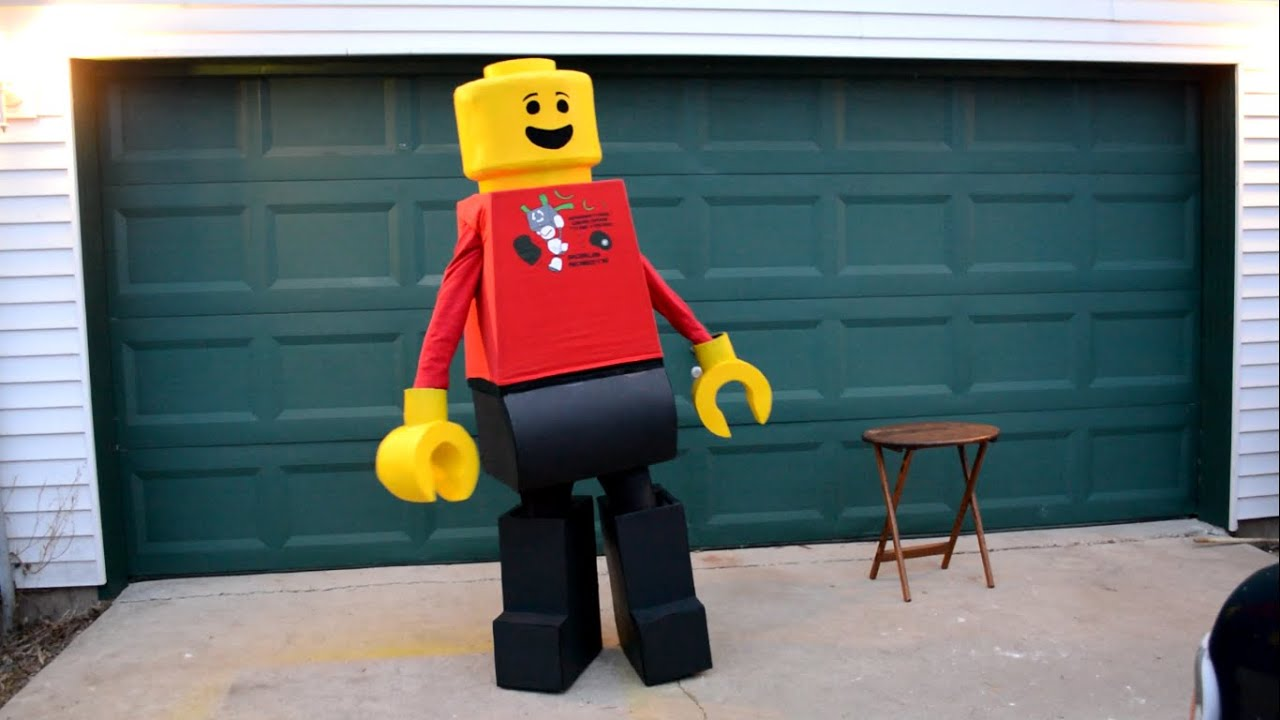 My Homemade LEGO Costume & My Homemade LEGO Costume - YouTube