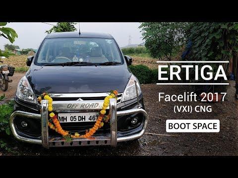Ertiga Facelift 2017 Vxi Cng Boot Space Youtube