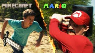 Mario vs Minecraft thumbnail