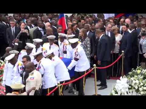 Les funérailles de l'ex président René Préval