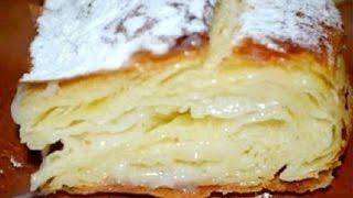 Фытыр.Египетский пирог с кремом.Супер вкусный пирог с заварным кремом.