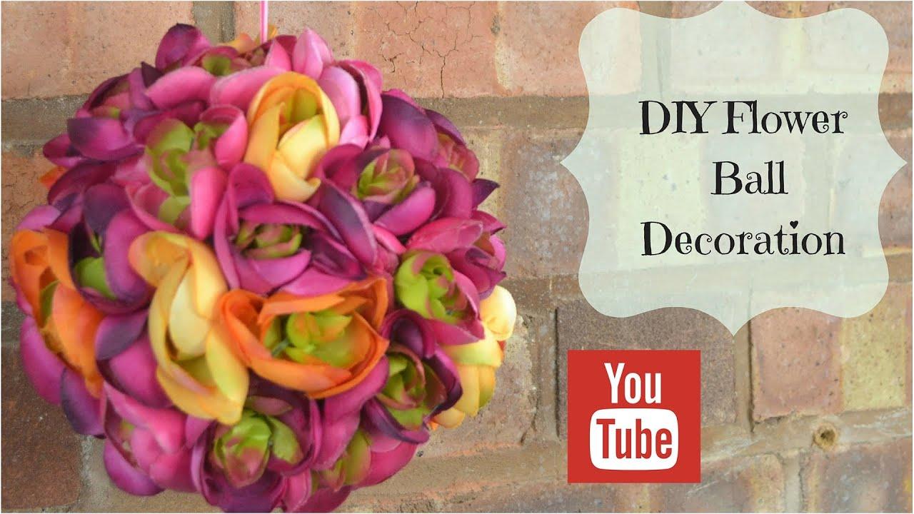 Diy hanging flower ball decoration tutorial using silk flowers youtube diy hanging flower ball decoration tutorial using silk flowers mightylinksfo