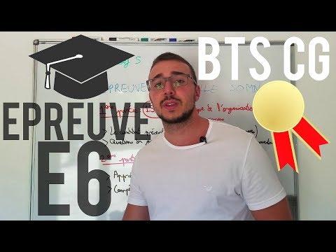 BTS CG - PRÉSENTATION ÉPREUVE E6